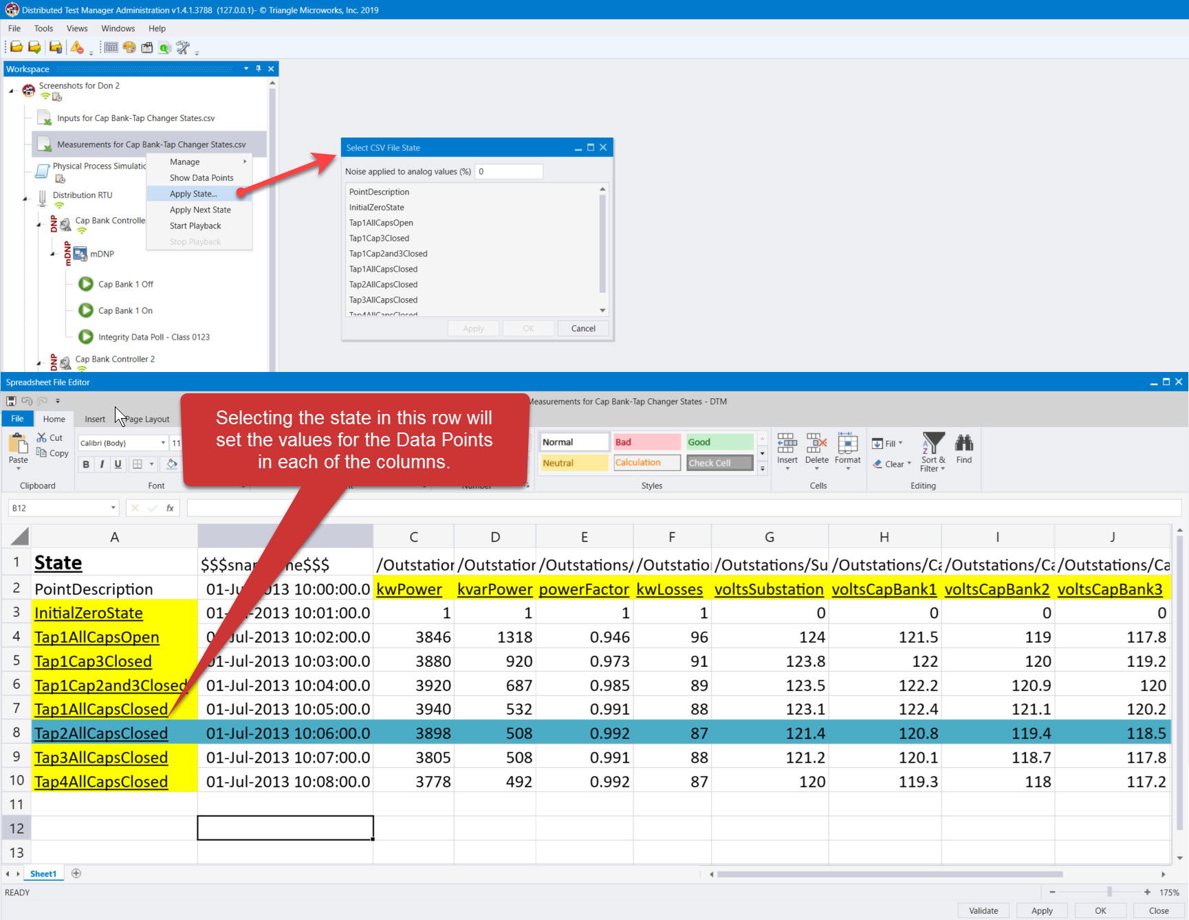 Change Data via CSV file